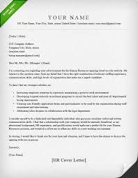 Cover Letter For Hr Position