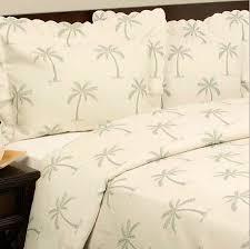 3 Low Price Tropical Palm Tree Cotton Matelasse Quilt Coverlet Set