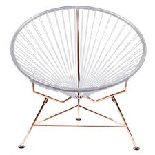 Innit Acapulco Rocking Chair modern innit chair with cord seat and copper frame zuri furniture