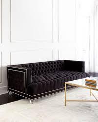 Tufted Velvet Sofa Toronto by Black Tufted Gold Nailhead Trim Sofa Decor U0026 Furniture