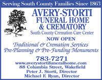 Avery Storti Funeral Home & Crematory in Wakefield RI 401 783