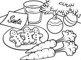 Christmas Coloring Pages For Kids Gingerbread Santa