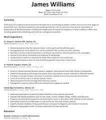 Dental Resume Template Assistant Sample Resumelift