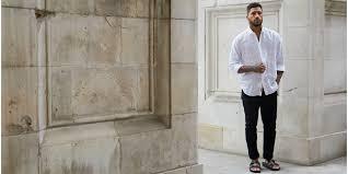 White Shirt Black Jeans Birkenstock Sandles Mens