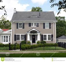100 Picture Of Two Story House Stately Stock Photo Image Of Front Blue