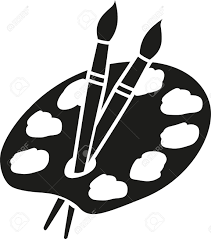 Artists Palette With Brushes Royalty Free Cliparts Vectors And Rh 123rf Com Ouline Art Vector