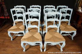 Photo Of Set 8 Painted French Ladderback Dining Chairs Kitchen Oak ... Antique Set Of 12 French Louis Xv Style Oak Ladder Back Kitchen Six 1940s Ding Chairs Room Chair Metal Oak Ladder Back Chairs Avaceroclub Fniture Classics Solid Wood Wayfair 10 Rush Seat White Painted Country Shabby Chic Cottage In Theodore Alexander Essential Ta Farmstead A 8 Nc152 Bernhardt Woven