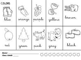 Photo Pic English Coloring Pages