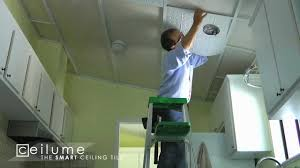 ceilinglink grid and ceilume ceiling tile installation time lapse