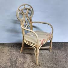 VANGUARD FURNITURE UNFINISHED RATTAN DINING CHAIR FRAME