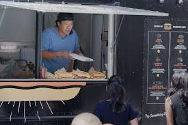 Chef Ming Tsai's 'Khil Me' Food Truck Is Scary On Purpose - Video ... Pretzel Mania Cronut Economics Eater Boston Sd Food Trucks Truck Events Tikiz Shaved Ice Mobile Vinyl Wrap Fort Lauderdale Bi Bim Bap At Fugu The Truffle And The Bizarre Vendorspace Fast Furious Star Sung Kangs 1972 Datsun 240z Images Collection Of About Trucks What Food Tuck Boston Do Blog Reviews Ratings Blowfish Stock Photos Alamy