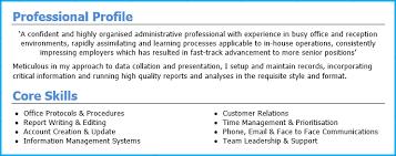 Admin CV Personal Profile