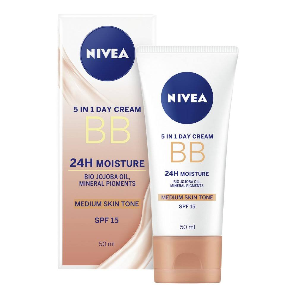 Nivea Daily Essentials BB Cream 5in1 Beautifying Moisturiser Medium to Dark SPF 10 - 50ml