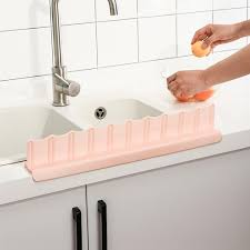 1pcs wasserdichte küche bad waschbecken spritzschutz leitblech blau