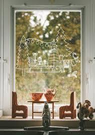 weihnachtliche fensterbilder mit dem kreidemarker