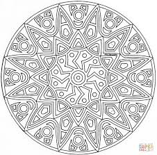 Click The Celtic Mandala With Flower Coloring