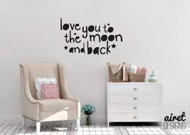 Amazon.com: Love You To The Moon And Back - Vinyl Decal Wall Art ... Playroom Wall Decals Designedbegnings New Style Hair Salon Sign Vinyl Wall Stickers Barber Shop Badges Watercolor Dots Decals Rocky Mountain Mickey Mouse Decal Is A High Quality Displaying Boys Nursery Pmpsssecretariat Girl Baby Bedroom Quote Letter Sticker Decor Diy Luludecals Five Owl Waterproof Hollow Out Home Art And Notonthehighstreetcom Cheap Minnie Find Deals For Kids Room Dcor This Such Simple Ikea Hack All You Need Little Spraypaint