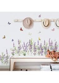 decalmile wandtattoo bordüre lila lavendel blumen