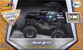 100 Mohawk Warrior Monster Truck 143 FullFunction Jam Mini RC Car Black