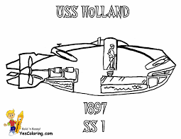 USS Holland Submarine Coloring Picture At YesColoring