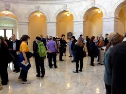 We Stood In The Hallways Singing Quietly While Sister Simone Met With Various Members Of Congress She Was To Meet Some Who Supported Sending Forward A