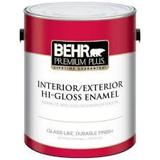 Glidden Porch And Floor Paint Sds by Behr Premium Plus 1 Gal Ultra Pure White Hi Gloss Enamel Interior