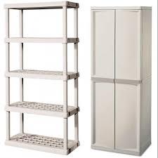 Sterilite 2 Shelf Utility Cabinet by Sterilite 0142 0155 Heavy Duty 4 Shelf Cabinet W Bonus 5 Shelf