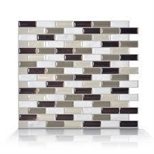 smart tiles sm1054 6 murano self adhesive wall tile lowe s