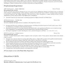 Law Enforcement Resume Templates Retired Police Officer Objective Resumes Promotion