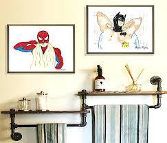 Superhero Room Decor Uk by Wall Art For Bathroom Decor U2013 Veroin Me
