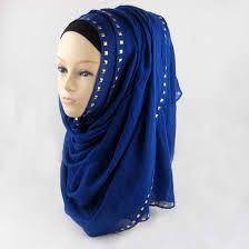 new design solid rivet sequin plain cotton hijab scarf wholesale