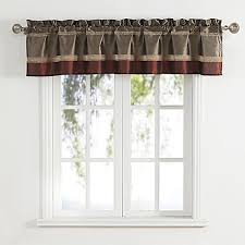Bed Bath And Beyond Curtains And Valances by Bombay Bath Window Curtain Valance In Rust Bed Bath U0026 Beyond