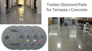 Terrazzo Floor Cleaning Tips by Terrazzo Marble Concrete Polishing Pads Twister Diamond Pads