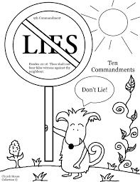 Ten Commandments Coloring Pages For Kids Each 10 Thou Shalt Not Books