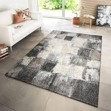 wohnzimmer teppich modern kupfer grau