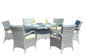Amazon.com: Direct Wicker 7 Pieces All-Weather Round Wicker Dining ... Teak Hardwood Ash Wicker Ding Side Chair 2pk Naples Beautiful Room Table Wglass Model N24 By Rattan Kitchen Youtube Pacific Rectangular Outdoor Patio With 6 Armless 56 Indoor Set Looks Like 30 Ikea Fniture Sicillian 8 Seater Square Stone And Chairs In Half 100 Handmade Tablein Garden Sets Burridge 4ft Round In Antique White Oak World New Ideas Awesome Unique Black