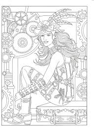 Steampunk Adult Coloring Artwork By Marty Noble Creative Haven