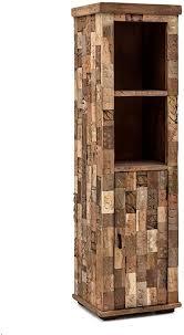 woodkings hochschrank patna badmöbel holz rustikal massiv