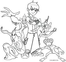 Ben 10 Coloring Pages Games Online Free Printable Ultimate Aliens To Print