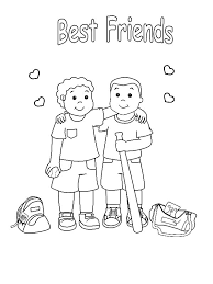 Baseball Teammates Best Friends Colouring Page Coloring