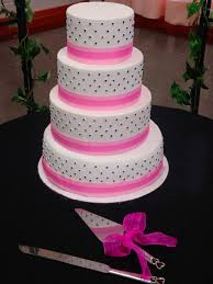4 beautiful white and pink wedding cakes 4