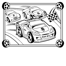 Race Car Coloring Page 3070