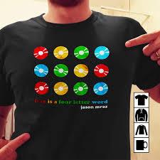Amazoncom Jason Mraz Know Tshirt Love Is A Four Letter Word Handmade