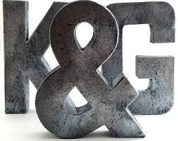 Faux Metal Letters Oxidized Copper Metal Farmhouse