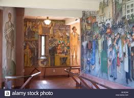 wpa mural inside coit tower san francisco stock photo royalty