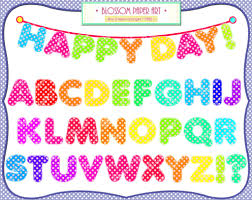 Individual Alphabet Letters Clipart Kid Colorful Printable