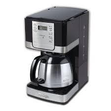 Mr Coffee Espresso Advanced Brew 8 Cup Programmable Maker With Thermal Carafe Black