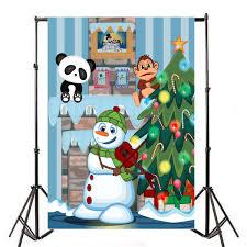 Amazoncom Baocicco Christmas Party Cartoon Backdrop 8x12ft