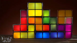 Tetris Stackable Led Desk Light by Retro Style Tetris Jigsaw Puzzle Constructible Stackable Led Light