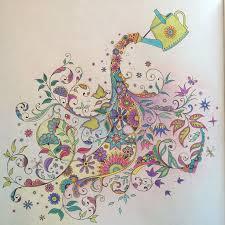 Johanna Basford Watering Can Secret Garden Coloring